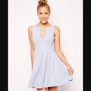 ASOS Baby Blue Skater Dress- size 0